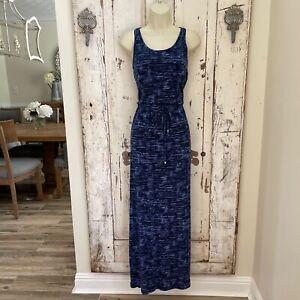 Athleta Cressida Size Small Woman's Navy Blue Sleeveless Long Casual Maxi Dress