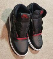 Nike Air Jordan 1 Retro High OG GS SZ 5Y Black Satin Gym Red BRED 575441-060