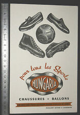 BUVARD 1950 HUNGARIA ROUGE CHAUSSURES BALLONS FOOTBALL SPORTS SCAPHANDRE