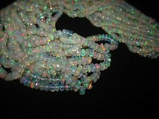 245 Ct Awesome Fire Ethiopian Rondelle faceted Opal Gemstone beads 6 strands lot