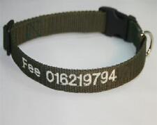 Hundehalsband mit Name oder Telefonnummer bestickt, viele schöne Farben