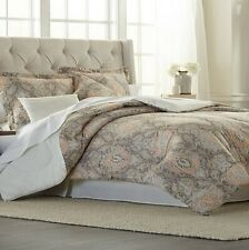 Modern.Southern.Home Paisley Floral Chandler Tan Rust 6 Pc. Queen Comforter Set