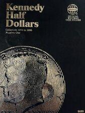 1966-1982 KENNEDY PARTIAL AU/UNC SET (1966,67,68D COINS ARE 40% SILVER) WHITMAN