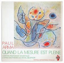 NM PAUL ARMA Quand la mesure concrete electronic french LP GUSTAVE SINGIER ART