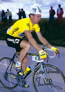 12x8Inch 30x20cm SIGNED PHOTO SEAN KELLY 4 TIMES GREEN JERSEY TOUR de FRANCE (1)