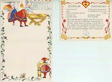 CHRISTMAS VILLAGE SNOW 1 VINTAGE COOK BUTTER CHURN SWEDISH MEATBALLS RECIPE CARD