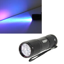 Professional 365 nM 9 UV LED Ultraviolet Rocks / Stones Illumination Flashlight