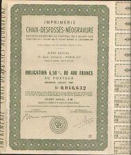 Imprimerie CHAIX-DESFOSSES-NEOGRAVURE (O)