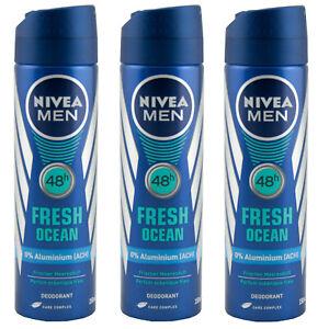 Nivea Men FRESH OCEAN Deo 3 x 150ml 48h - 0% Aluminium (ACH)