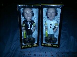 2 MYRON COPE PITTSBURGH STEELERS BOBBLEHEAD DOLLS NIB 2003 white & black jersey
