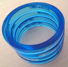 Aerozine Super Lightweight bicycle headset spacers 3pc Set 1-1//8 5mm 10mm Blue