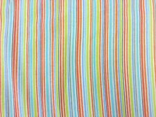 MICHAEL MILLER 100% BRUSHED COTTON SLENDER STRIPE BLUE SOFT CRAFT DRESS FABRIC