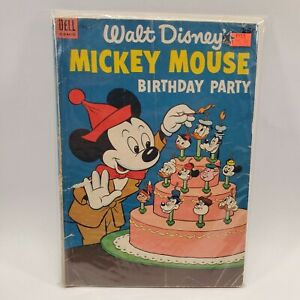 Walt Disney's Mickey Mouse Birthday Party Dell Comic Book 1953