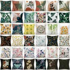 """18x18"""" Throw Pillow Cover Floral Double-Sided Decorative Flower Bed Cushion Case"""