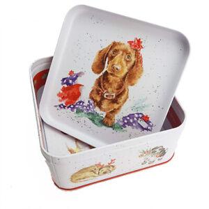 16cm Wrendale Designs Santa's Little Helper Dog Theme Gift Tin