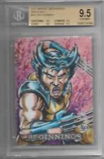 BGS 9.5 2011 Marvel Beginnings Dan Gorman SKETCH of Wolverine #d 1/1