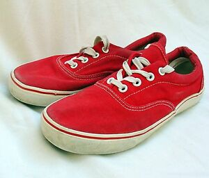 Red Canvas Shoes - UK Size 5