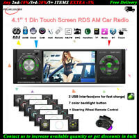 4.1''1 Din Autoradio Touch Screen FM BT Stereo MP5 Lettore AUX AM RDS 2USB +SWC