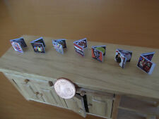 Music CD set miniature. Michael Jackson, Prince, Mika, Madonna, U2,Rolling  1:12