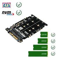 2in1 M.2 NVME SSD Key M Key B SSD to U.2 SFF-8639 Adapter Card Converter for PC