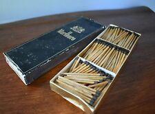 Vintage Marlboro Cigarette Match Box Wood Stick Matches