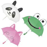 Kinder Tier Gesicht Design Regenschirm Kinder Regen Kuppel Jungen Mädchen