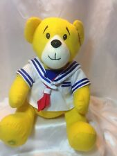Build A Bear Workshop Yellow Bear With Sailor Shirt And BABW Patch on Tummy  BAB