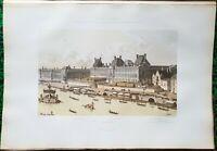 Paris Ier - Louvre sous Louis XV (29/08/1739) Hoffbauer Superbe Litho 45x30 1885