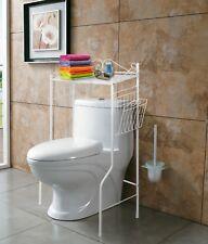 Bathroom Metal Storage Organizer Rack Freestanding Shelf Space Saver Over Toilet