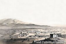 Early View of Los Angeles, California - 1856 - Historic Photo Print