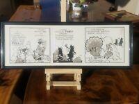 The Flintstones Original Comic Strip Illustration Art with Fred and Barney