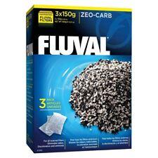Fluval Zeo-Carb Aquarium Filter Material 3 x 150g Ammonia Remover *Genuine*