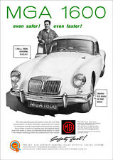 MG MGA RETRO POSTER A3 PRINT FROM CLASSIC 60'S ADVERT