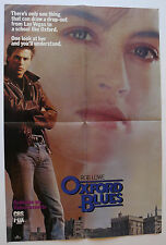 OXFORD BLUES 1985 ORIGINAL HOME VIDEO MOVIE POSTER ROB LOWE