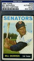 Bill Moose Skowron Signed Psa/dna 1964 Topps Certified Authentic Autograph