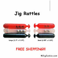 JIG RATTLES (10) or (100) Color: Clear, Red or Black - SHIPS FROM USA