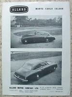 ALLARD MONTE CARLO SALOON & SAFARI ESTATE CAR Sales Leaflet c1953