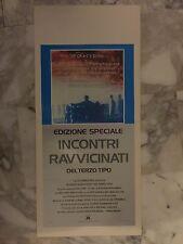 LOCANDINA Originale INCONTRI RAVVICINATI DEL TERZO TIPO Ed. Speciale Spielberg