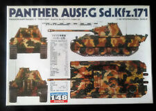 Vintage and rare 1/48 Bandai German WW2 Panther G Medium Tank sealed model kit