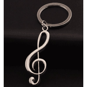 Music Themed Keyring - G Clef
