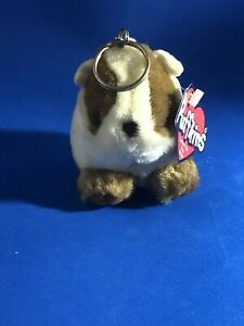 Gertie the Guinea Pig Puffkins Plush Stuffed Animal Swibco Collectible Key Ring