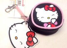 Hello Kitty - Sanrio - Portamonete oggetti 8cm Gancio Molla Nero - Cartorama