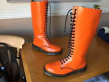 Vintage Dr Martens 1420 Orange smooth boots UK 8 EU 42 skin punk 1914 England