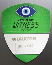 KATY PERRY ~ WITNESS 2017 ~ Backstage Pass - Soft Patch