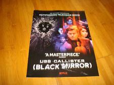 BLACK MIRROR, USS CALLISTER 2018 Emmy ad Jesse Plemons as Robert Daly, Star Trek