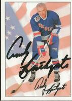 Andy Bathgate 1992 Ultimate Autograph #74 Rangers