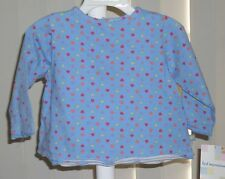 Girls Long Sleeve Shirt Blue with Hearts First Impressions  NWT 18M