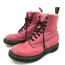 Dr Martens Boots UK 6 EU 39 Lace Up Style Pink Soft Lining Casual Women 291823