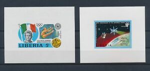LN22870 Liberia imperf mixed thematics sheets MNH
