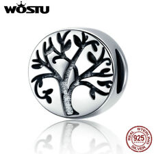 Wostu Vintage Enamel Tree Of Life Charm 925 Sterling Silver Fit Charm Bracelet
